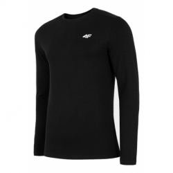 Pánske tričko s dlhým rukávom 4F-MENS LONGSLEEVE-NOSH4-TSML001-20S-DEEP BLACK