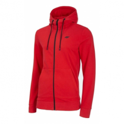 Pánska mikina so zipsom 4F-MENS SWEATSHIRT-NOSH4-BLM004-62S-RED