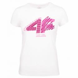 Dívčí tričko s krátkým rukávem 4F-GIRLS T-SHIRT-HJZ20-JTSD003-10S-WHITE