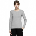 Dámske tričko s dlhým rukávom 4F-WOMENS LONGSLEEVE-NOSH4-TSDL001-27M-COLD LIGHT GREY MELANGE -