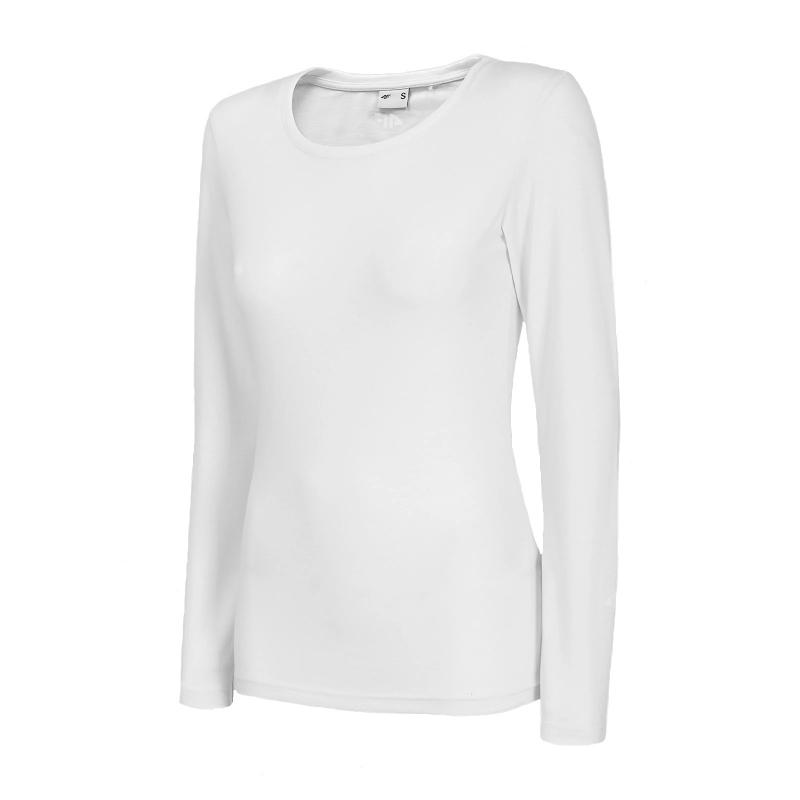 Dámske tričko s dlhým rukávom 4F-WOMENS LONGSLEEVE-NOSH4-TSDL001-10S-WHITE -