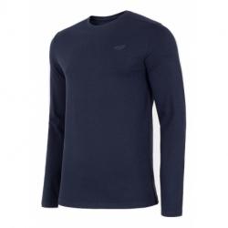 Pánske tričko s dlhým rukávom 4F-MENS LONGSLEEVE-NOSH4-TSML001-31S-NAVY