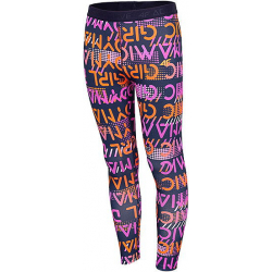 Dievčenské legíny 4F-GIRLS LEGGINGS-HJZ20-JLEG010-90S-MULTICOLOUR