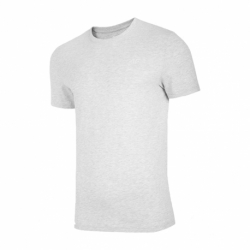 Pánske tričko s krátkym rukávom 4F-MENS T-SHIRT-NOSH4-TSM003-27M-COLD LIGHT GREY MELANGE