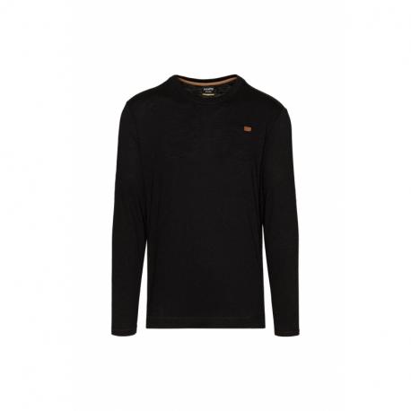 Pánske tričko s dlhým rukávom SAM73-Alvin-500-Black