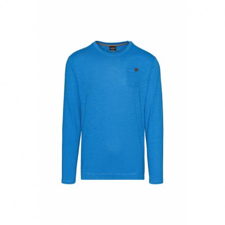 Pánske tričko s dlhým rukávom SAM73-Alvin-220-Blue