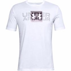 Pánske tričko s krátkym rukávom UNDER ARMOUR-UA BOX LOGO WORDMARK SS-WHT