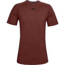 Pánske tričko s krátkym rukávom UNDER ARMOUR-UA Charged Cotton SS-RED