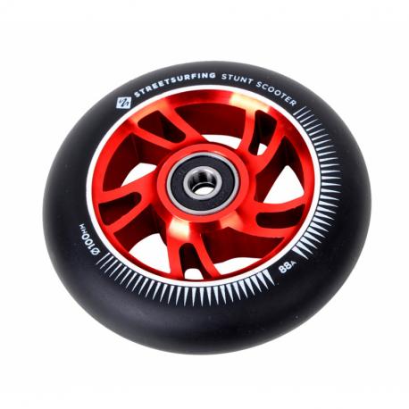 Náhradný diel STREET SURFING-Wheel, scooter, freestyle 100x24mm, Alu, black