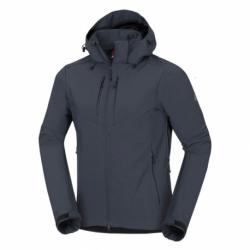 Pánska turistická softshellová bunda NORTHFINDER-VIKTOR-319 Grey