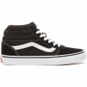 Dámska rekreačná obuv VANS-WM Ward HI-(Suede Canvas) black/white -