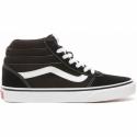 Dámská rekreační obuv VANS-WM Ward hi-(Suede Canvas) black / white -