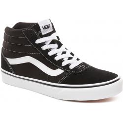 Dámska rekreačná obuv VANS-WM Ward HI-(Suede Canvas) black/white