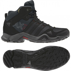 ADIDAS-AX2 MID GTX/DARK SHALE/BLACK 1/LIGHT SCARLET