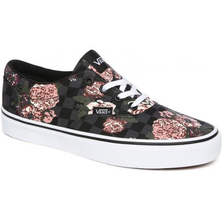 Dámska rekreačná obuv VANS-WM Doheny-(Flowers & Checks) black