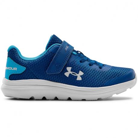Dětská sportovní obuv (tréninková) UNDER ARMOUR-PS Surge 2 AC graphite blue / halo gray
