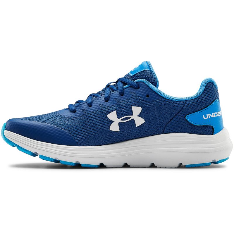 Juniorská sportovní obuv (tréninková) UNDER ARMOUR-GS Surge 2 graphite blue / halo gray -