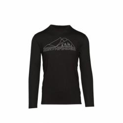 Pánské turistické tričko s dlouhým rukávem NORTHFINDER-šému-269 Black