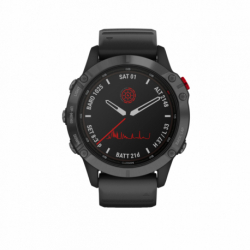 Monitor aktivity GARMIN-fenix 6 Pro Solar, Slate Gray, Black Band