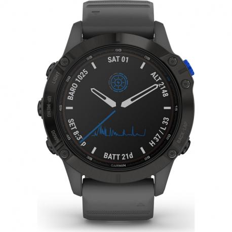 Monitor aktivity GARMIN-fenix 6 Pro Solar, Black, Slate Gray Band