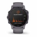 Monitor aktivity GARMIN-fenix 6S Pro Solar, Amethyst Steel, Shale Gray Band -