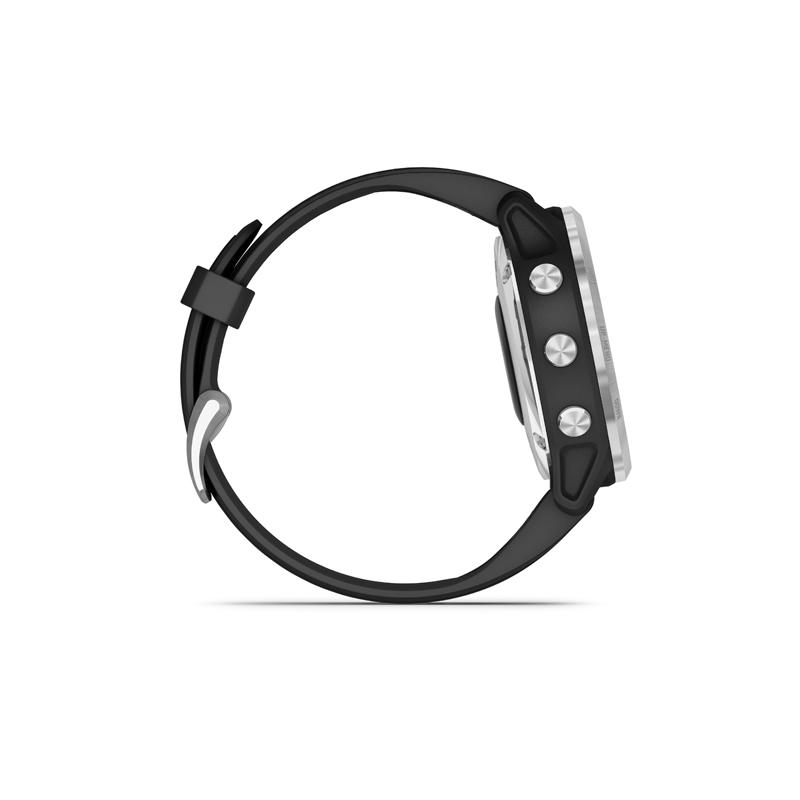 Monitor aktivity GARMIN-fenix 6S Solar, Silver, Black Band -