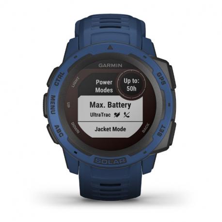 Monitorování aktivity GARMIN-Instinct Solar, přílivová modrá