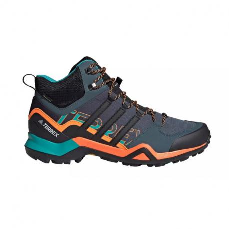 Pánska turistická obuv stredná ADIDAS-Terrex Swift R2 MID GTX legblu/cblack/sigorg