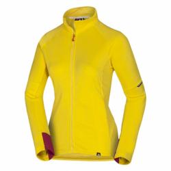 Dámská turistická mikina se zipem NORTHFINDER-BENSVA-478 Yellow