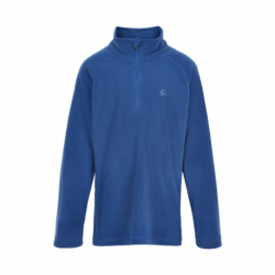 Chlapčenská flisová mikina so zipsom COLOR KIDS-Fleece pulli, Solid-Galaxy blue