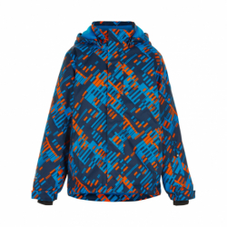 Chlapecká lyžařská bunda COLOR KIDS-Ski jacket AOP, AF 10.000-Hawaiian Surf