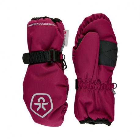 Juniorske lyžiarske rukavice COLOR KIDS-Mittens Waterproof-Beet Red