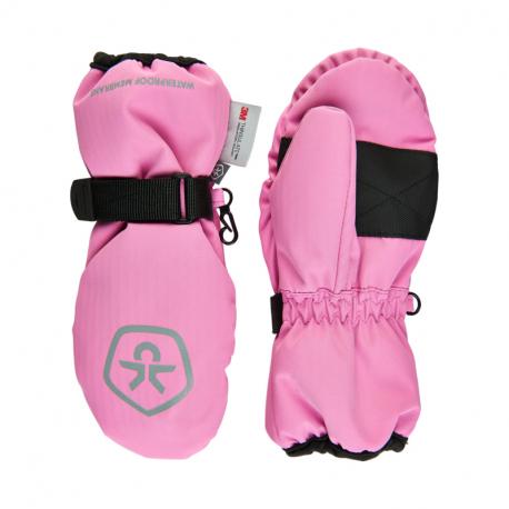 Juniorske lyžiarske rukavice COLOR KIDS-Mittens Waterproof-Fuchsia Pink