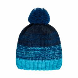 Chlapecká zimní čepice COLOR KIDS-Thin striped hat -Cyan Blue