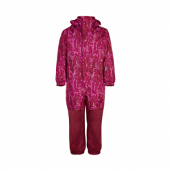 Dievčenský zimný overal COLOR KIDS-Coverall AOP, AF 10.000-Beet Red