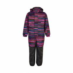 Dievčenský zimný overal COLOR KIDS-Coverall AOP, AF 10.000-Fuchsia Pink