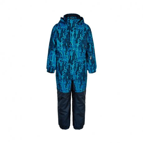 Chlapčenský zimný overal COLOR KIDS-Coverall AOP, AF 10.000-Dress Blues
