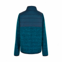Chlapčenská flisová mikina so zipsom COLOR KIDS-Fleece jacket w/Solid Effect -Dress Blues -