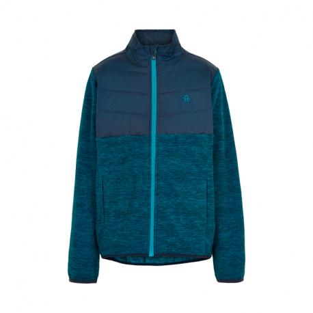 Chlapčenská flisová mikina so zipsom COLOR KIDS-Fleece jacket w/Solid Effect -Dress Blues