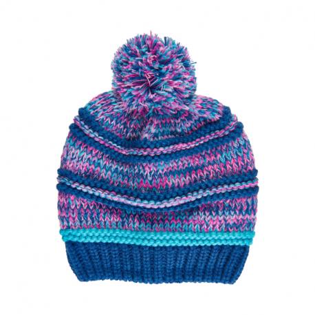 Dievčenská zimná čiapka COLOR KIDS-Hat -Galaxy blue