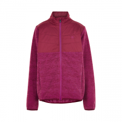 Dievčenská flisová mikina so zipsom COLOR KIDS-Fleece jacket w/Solid Effect -Beet Red