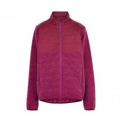 Dívčí flísová mikina se zipem COLOR KIDS-Fleece jacket w / Solid Effect -Beet Red