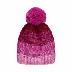 Dívčí zimní čepice COLOR KIDS-Thin striped hat -Fuchsia Pink