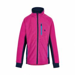 Dívčí flísová mikina se zipem COLOR KIDS-Fleece jacket w / Chestpocket-Rose Violet