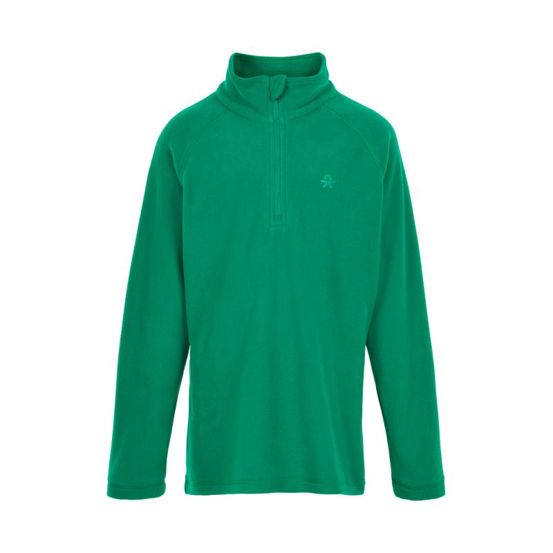 COLOR KIDS-Fleece pulli, Solid-Golf Green 116 Zelená