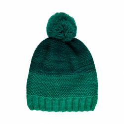 Chlapecká zimní čepice COLOR KIDS-Thin striped hat -Golf Green