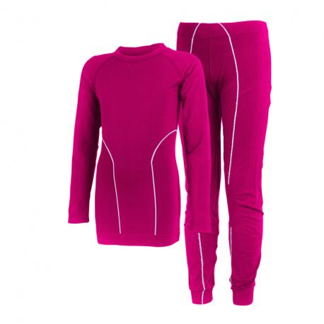 Dívčí termoprádlo vrchní a spodní díl COLOR KIDS-Seamless underwear -Raspberry