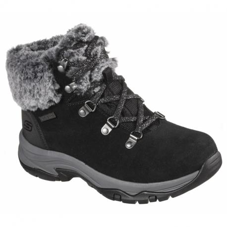 Dámske zimné topánky členkové SKECHERS-Trego Falls Finest black
