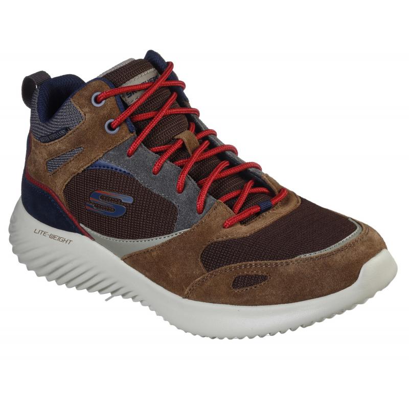 Pánská vycházková obuv SKECHERS-Bounder Hyridge brown 41 Hnědá