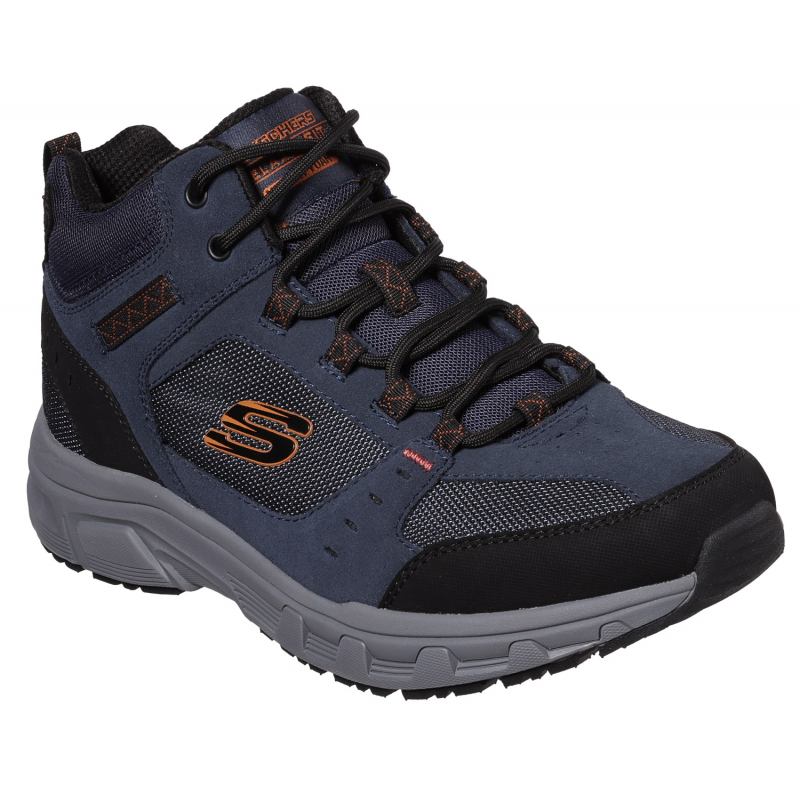 Pánska rekreačná obuv SKECHERS-Oak Canyon Ironhide navy orange -